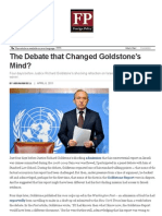 Goldstone Debate