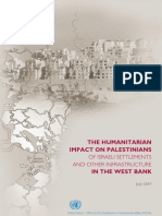 The Humanitarian Impact of Israeli Infrastructure the West Bank Full