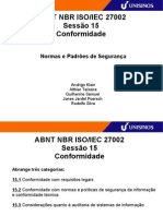 ABNT ISO 27002 15 Conformidade