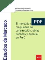 El Mercado de La Maquinaria de Construccion y Mineria Peru