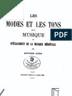 Auda A., Les modes et le tons de la musique