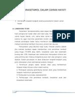 Analisis Parasetamol Dalam Cairan Hayati