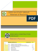LEED GA Materials & Resources
