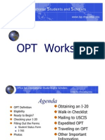 Opt Online Workshop