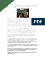 Aprobada regulación y control de tabaco en Ecuador