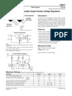 Datasheet Transistor Regulador de Tension LM317