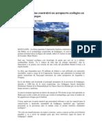 Firma argentina construirá un aeropuerto ecológico en las Islas Galápagos