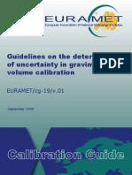 EURAMET-Cg-19-01 Guidelines in Uncertainty Volume