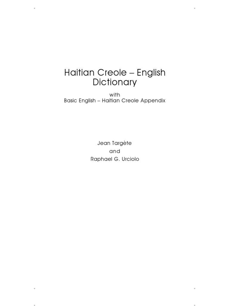 fe58e5130efd28 Hatian Creole English Dictionary 2nd Printing