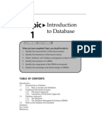 Topic 1 Introduction to Database