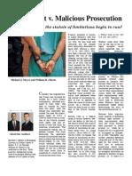 False Arrest Malicious Prosecution