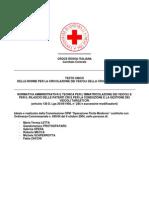 Testo Unico delle norme per la circolazione dei veicoli della Croce Rossa Italiana