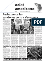 `Foro Social Latinamericano', Green Left Weekly's Spanish-language supplement, June 2011 issue