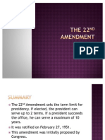 The 22nd Amendment