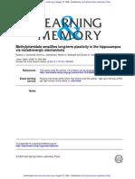 Methylphenidate Amplifies Long-term Plasticity in the Hippo Campus (1)