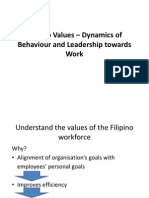 Filipino Values – Dynamics of Behaviour and Leadership