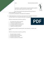 Evaluación especial domiciliaria - 3º año (junio 2011)