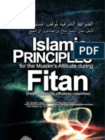 Principles During Times of Fitan