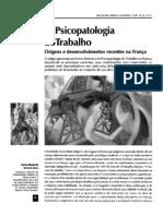 A Psicopatologia Do Trabalho