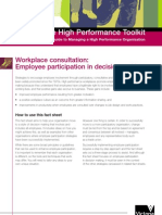 Employee Participation in Decision making