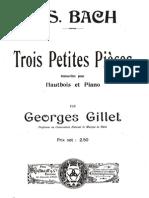 IMSLP64826 PMLP132034 Bach Trois Petite Pieces Oboe