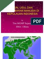 Asal Usul Dan Persebaran Manusia Di Indonesia