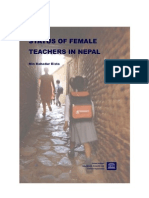 Status of Female Teachers in Nepal
