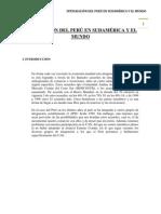 INTEGRACIÓN DEL PERÚ EN SUDAMÉRICA Y EL MUNDO