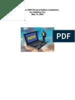 SQL Server 2000 Personal Edition Installation for Hedberg V4