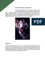 Most Dangerous Deep Sea Creatures