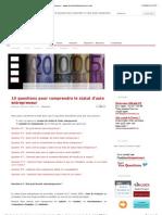 10 Questions Pour Comp Rend Re Le Statut d'Auto Entrepreneur - Www.lesautoentrepreneurs