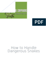 How to Handle Dangerous Snakes