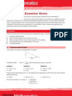 Examiners Notes