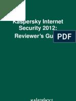 Das Benutzerhandbuch zu Kaspersky Internet Security 2012 auf Englisch