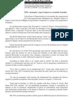 NR #2430C, 06.09.2011, PLDT, Digitel, Monopoly