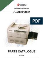 Kyocera P-2000 Parts Manual