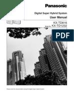 Kxtd1232+Kxtd816 User Manual