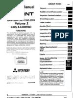 Galant 89-93 Service Manual Body & Electric