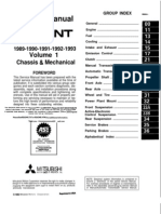 Chassis & Mechanical Service Manual 89-93 Galant