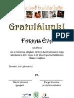 Comenius Eredményhirdetés