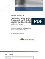 Application Integration Framework (AIF) BizTalk Adapter Configuration for Data Exchange