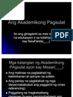 Ang Akademikong Pagsulat
