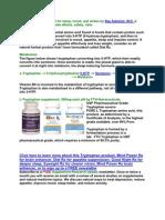 Tryptophan Supplement for Sleep