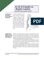 Dolores de La Espalda en La Region Lumbar - Consejos