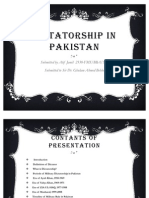 Dictatorship in Pakistan Slides
