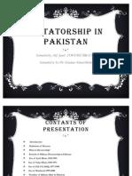 Dictatorship in Pakistan Slides