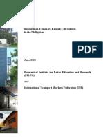 EILER Final Report Transport-Related Call Center
