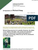Richard Haag Biography