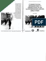Curriculum Humanismo y Democracia - Ines Dussel