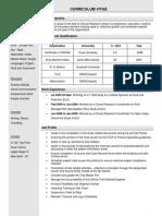 Curriculum Vitae - Rajeev Singha Dated Apr 20, 2011